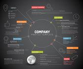 Šablona návrhu infographic přehled společnosti