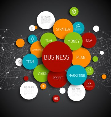 Abstract Business infographic schema