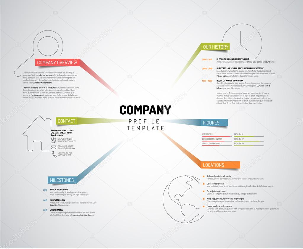 Company infographic overview design template — Stock Vector © orson ...