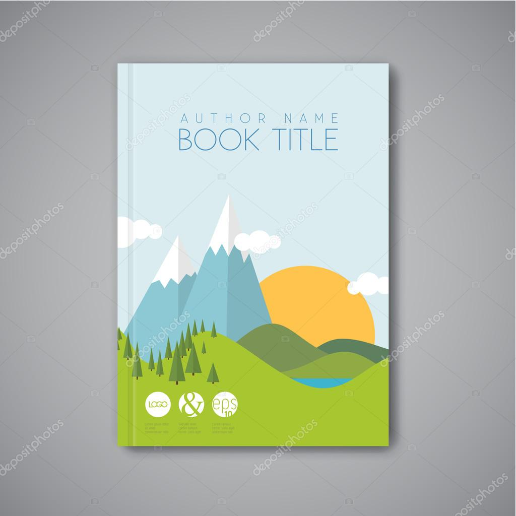 Where Is The Illustration On The Front Cover Of A Book ~ Minimalistic book front cover template u stock vector orson