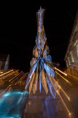 Christmas tree abstract motion