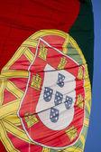 Portugál zászló csapkodva a szél.