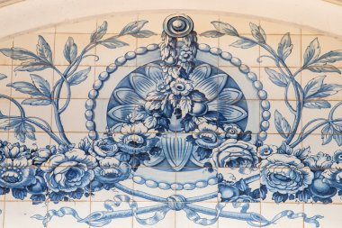 beautiful artwork of the portuguese azulejo ceramic