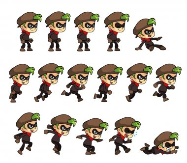 Thief Boy Game Sprites