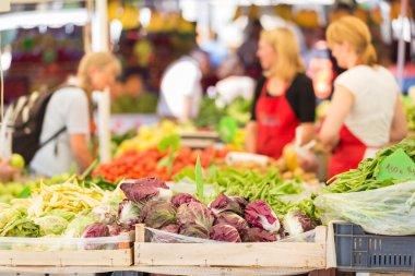 Farmers market stall.