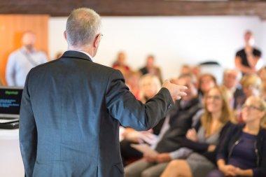Businessman making a business presentation.