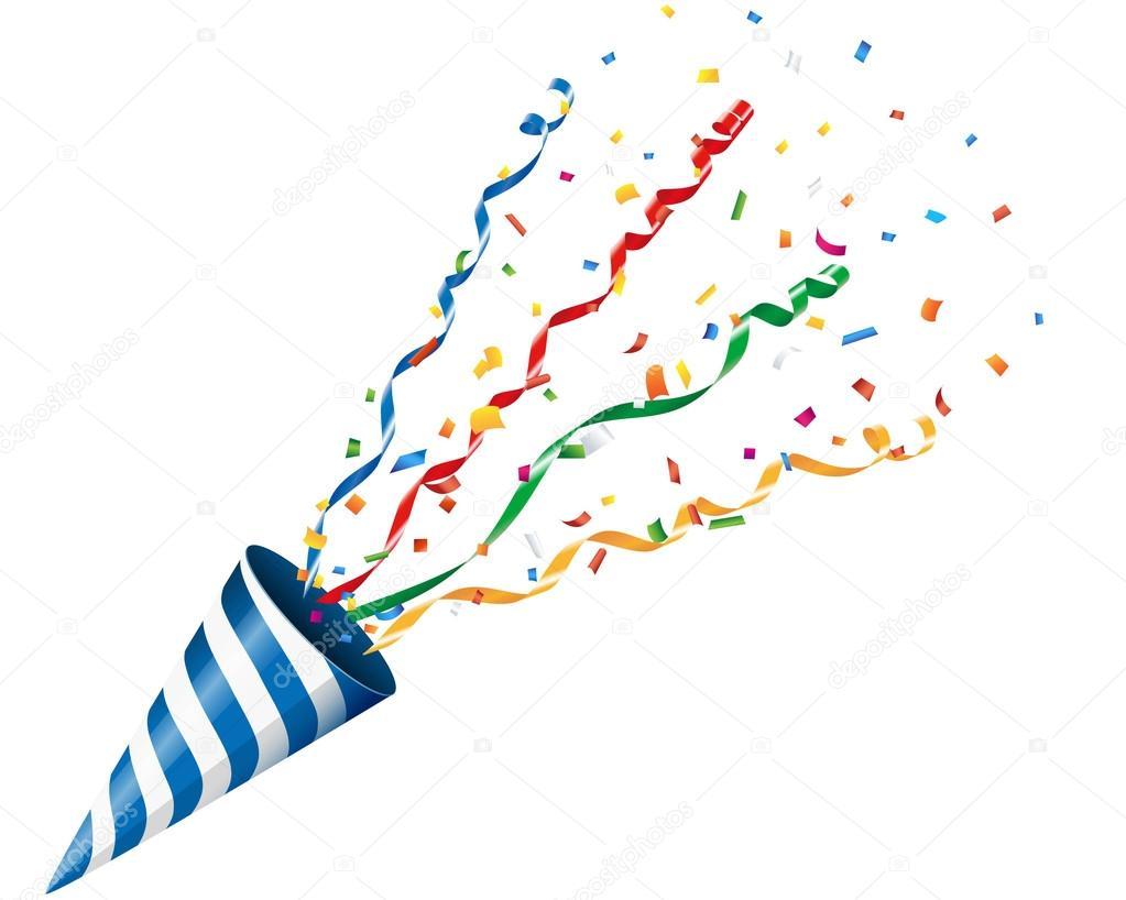 Confetti, confetti poppers, party popper, streamers ... |Party Poppers Streamers