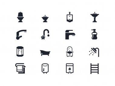 Plumbing icons. Lyra series