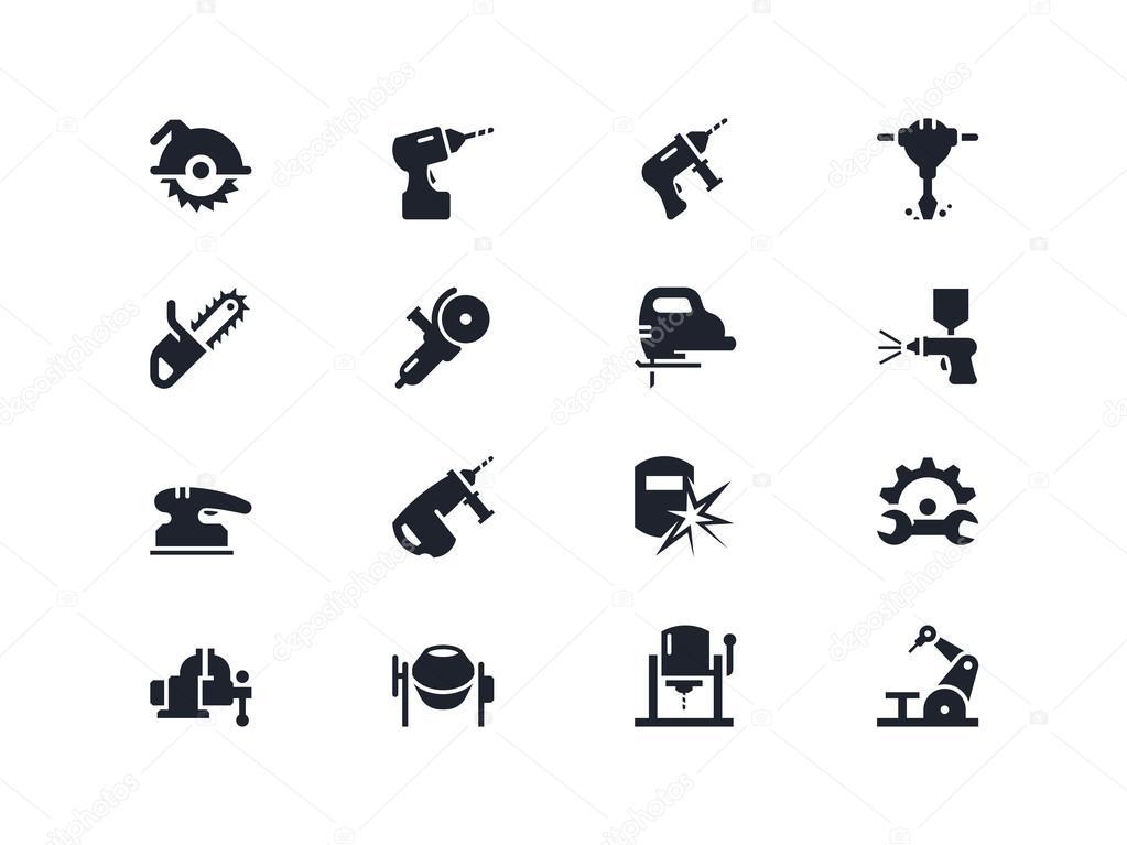 Elektrische Arbeit Werkzeuge Symbole. Lyra-Serie — Stockvektor ...