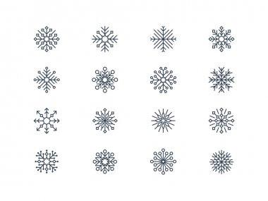 Snowflake icons 4