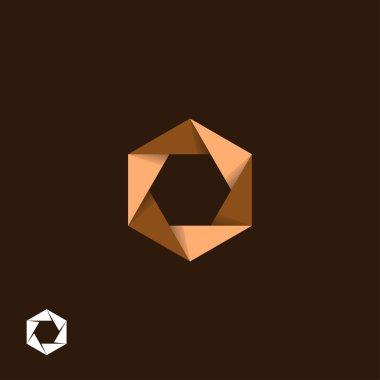 Hexagonal origami symbol