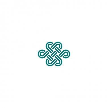 Infinite knot symbol on white