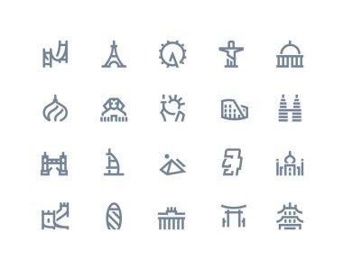 Landmarks icons. Line series