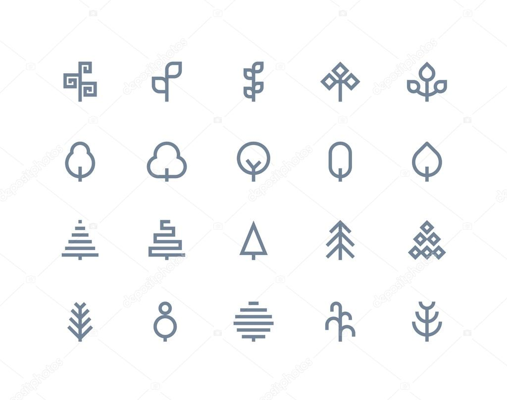 Tree icons. Line series