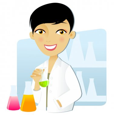 Scientist woman in lab