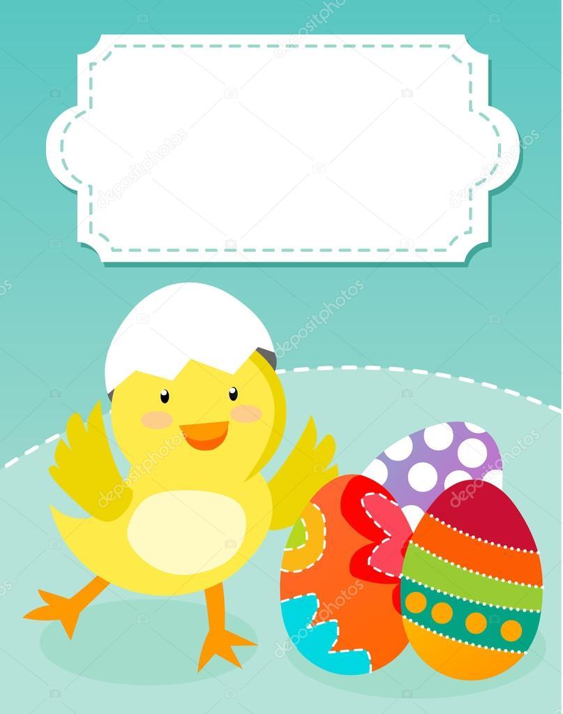 Pasqua pollo e uova — vettoriali stock miacharro