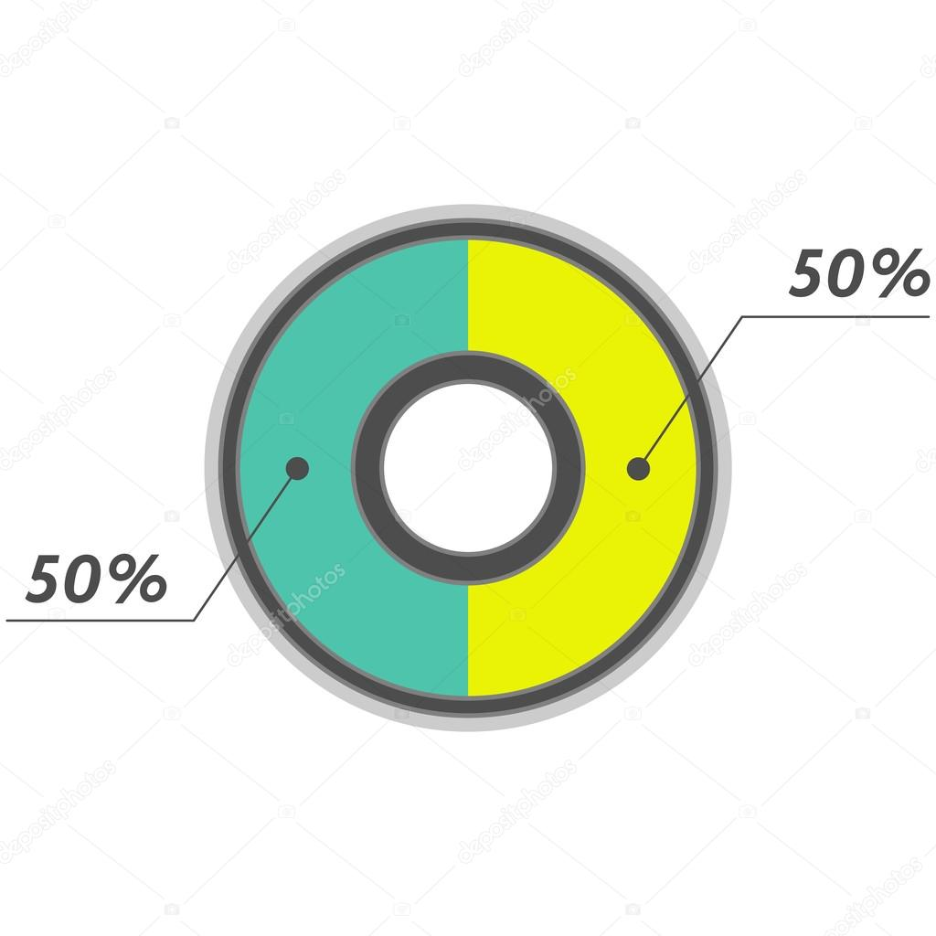 50 percent pie chart green and yellow infographics stock photo 50 percent pie chart green and yellow infographics photo by simple nvjuhfo Image collections