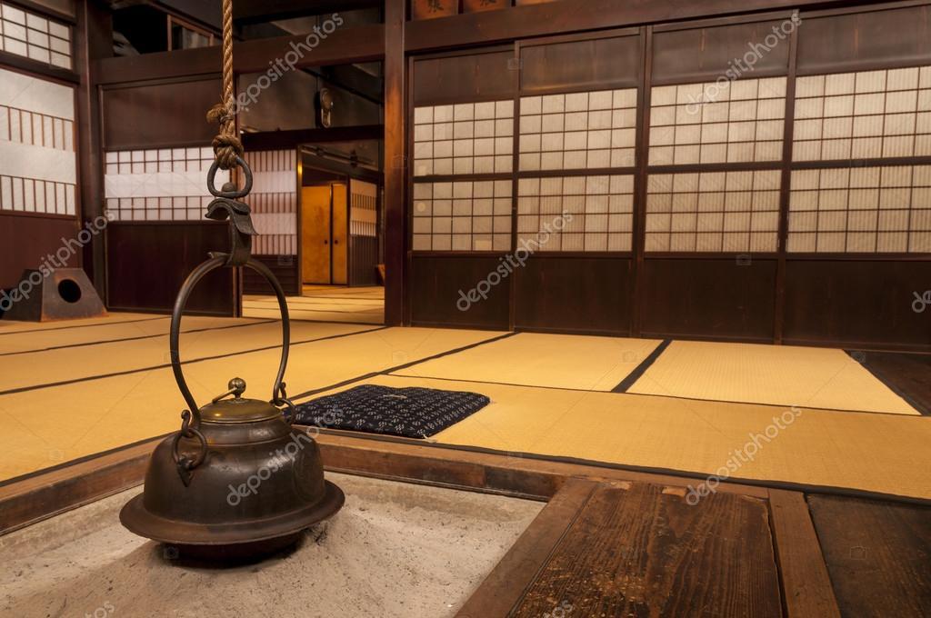 Interieur De La Maison Japonaise Traditionnelle Avec Suspendus
