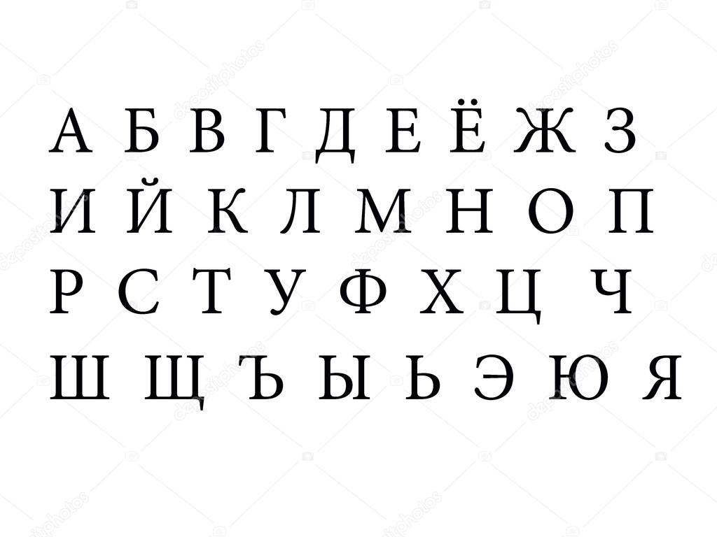 алфавит картинка русский