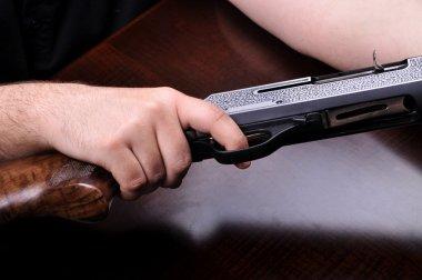 Hunting shotgun detail