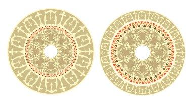 Russian circular ornament
