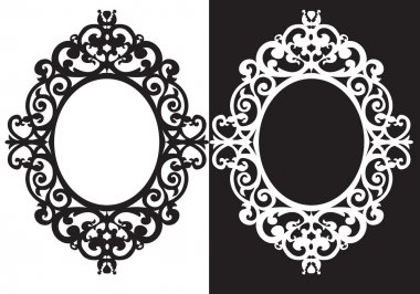 Oval frame ornament