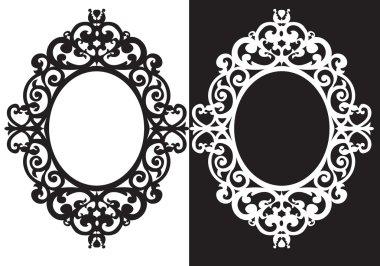 Oval frame ornament, illustration, vector stock vector
