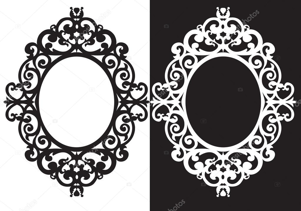 oval frame ornament stock vector tanitue 65917669