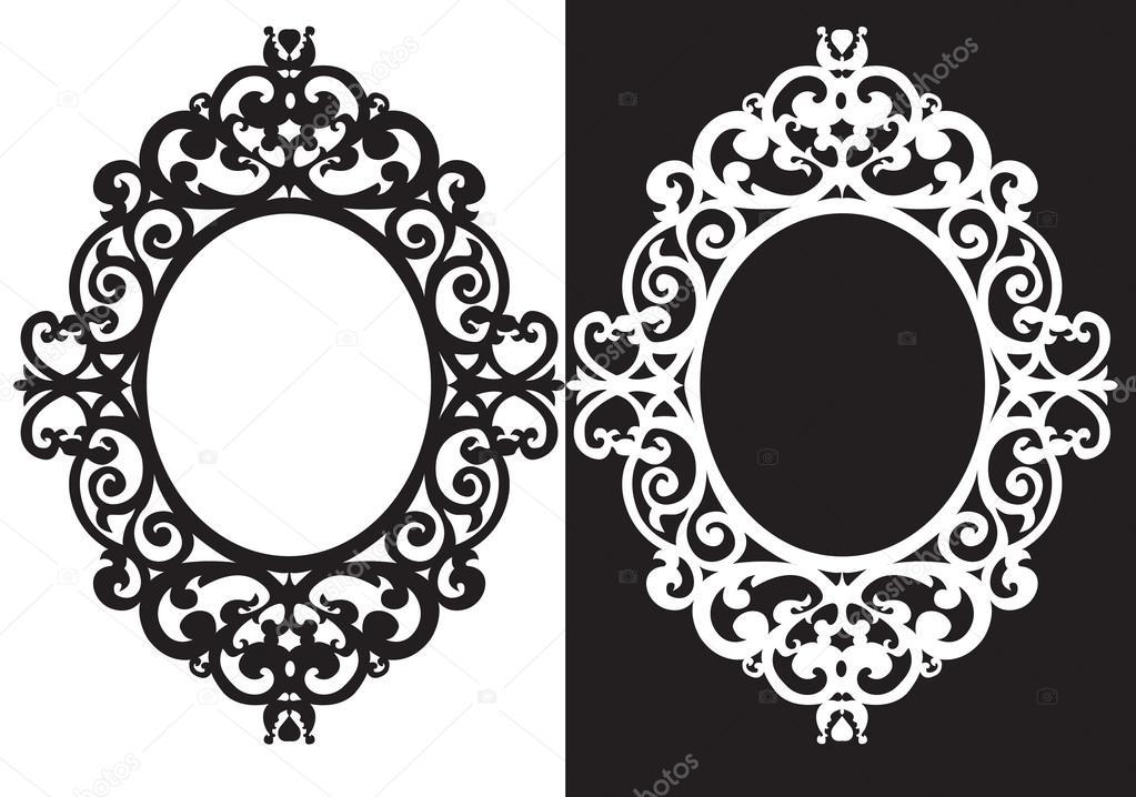 Oval frame ornament