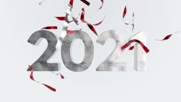 2021 Happy New Year Confetti Seasons Greetings Animation Card Background Party