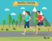 Healthy lifestyle illustration .