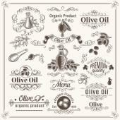Fotografia Elementi dellannata e decorazione della pagina. Olio di oliva di progettazione
