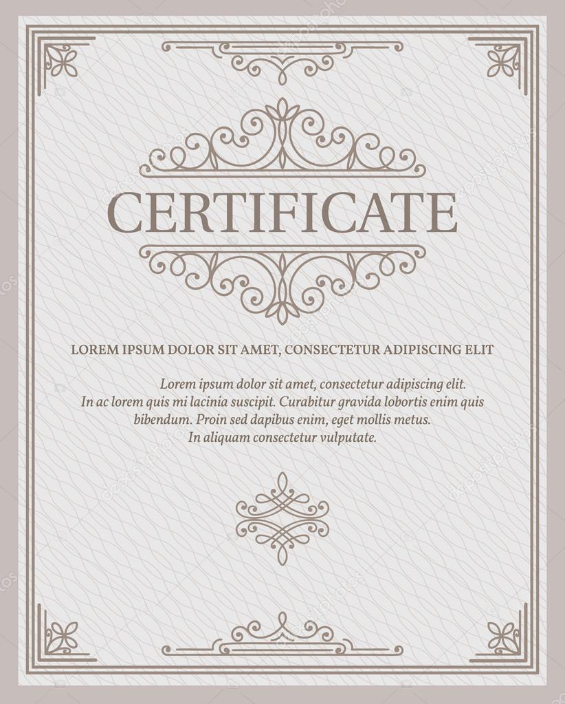 Vorlage-Zertifikate und Diplome — Stockvektor © tory #90576404