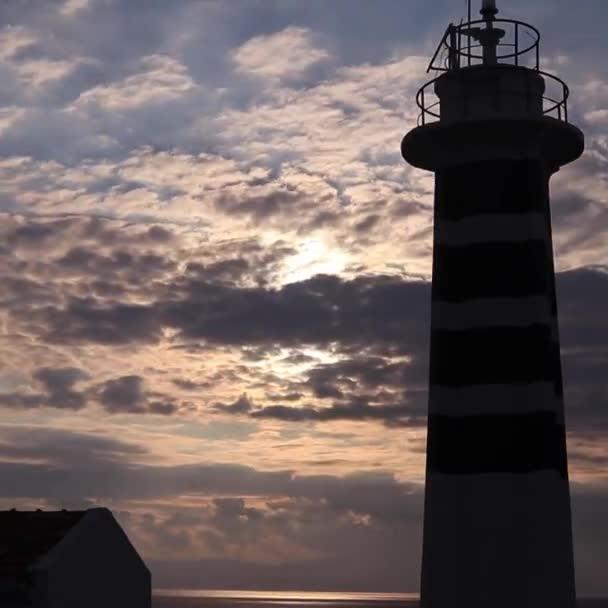 Time lapse video egy világítótorony, izmir, Törökország