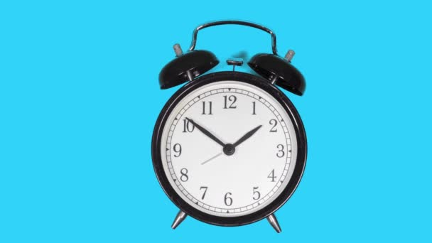 black metal classic alarm clock lapse