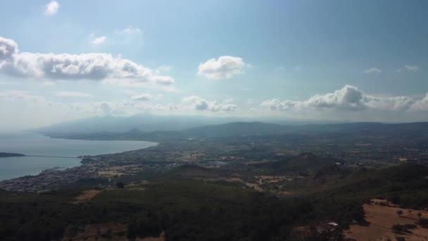 Letecký pohled Holubí ostrov Kusadasi Turecko