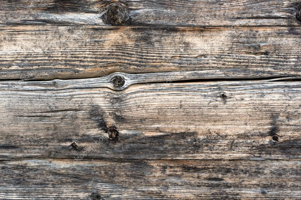 Closeup shot of old grey wooden boards texture