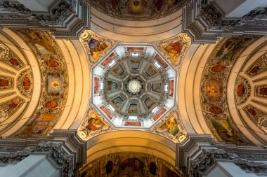 painted ceiling of dome at Salzburg cathedral