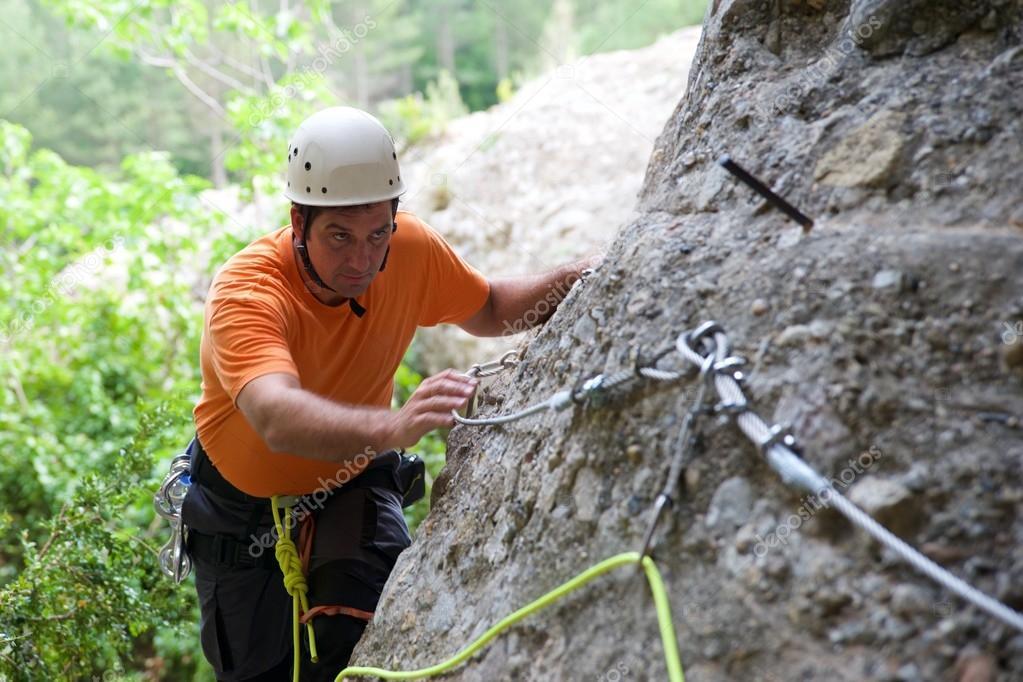 Klettersteig Weibl : Klettersteig in spanien u stockfoto pedro