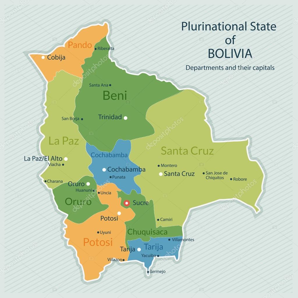 Administrative map of Bolivia Stock Vector alexandragl 119454050