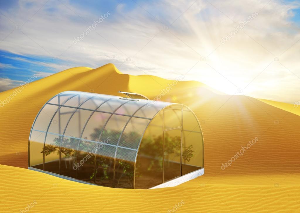 Outstanding One Round Greenhouse In Desert Stock Photo C Varvarayara Home Interior And Landscaping Oversignezvosmurscom