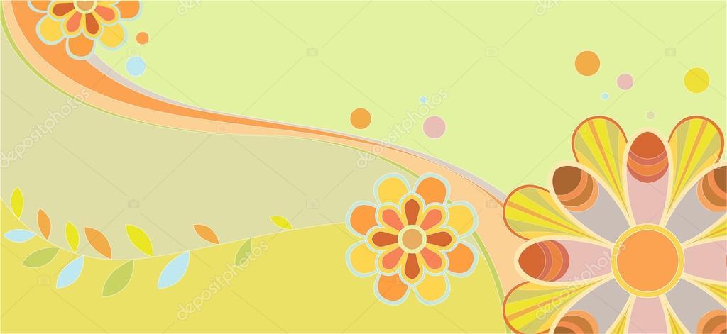 Childrens floral pattern
