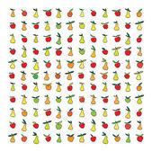 vektorové vzorek s jablky a hruškami