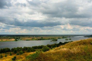 Beautiful landscape in Konstantinovo, Russia - the birthplace of russian poet Sergei Yesenin