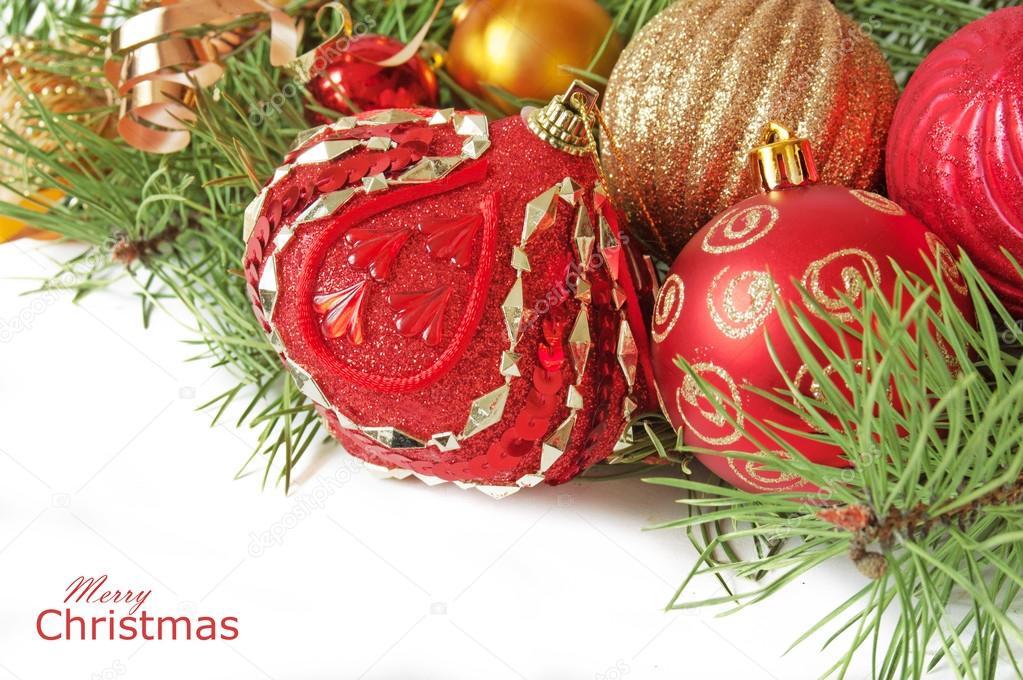 Frohe Weihnachten und guten Rutsch ins neue Jahr — Stockfoto ...