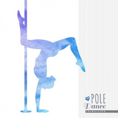 pole dance illustration