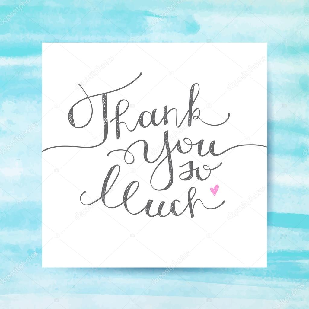 hartelijk bedankt