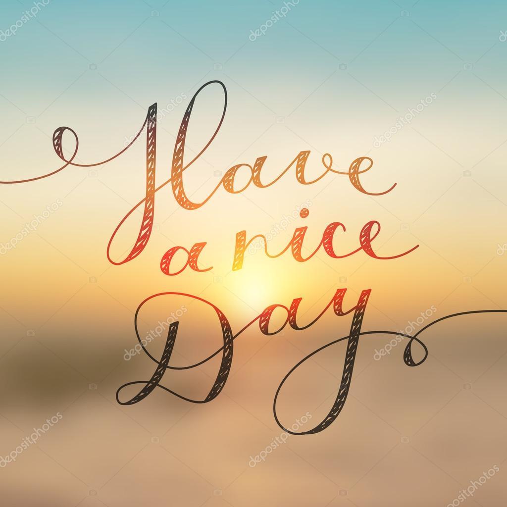 Ich wünsche dir einen schönen Tag — Stockvektor