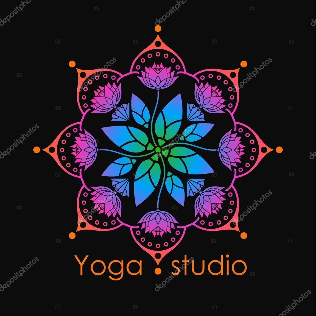 Mod le de mandala arc en ciel des fleurs de lotus pour le - Modele de mandala ...