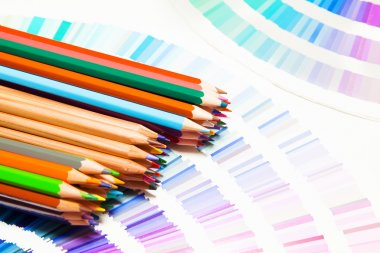 color chart and pencils